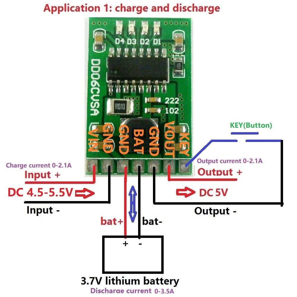 New 5v 2 1a Charge Discharge Boost Power Module 3 7v 4 2v