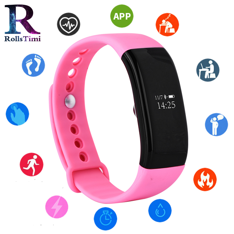 RollsTimi Smart Bracelet Heart Rate Monitor Fitness Tracker Smart Wristband casual watch women Waterproof Smart Watch AndroidRollsTimi Smart Bracelet Heart Rate Monitor Fitness Tracker Smart Wristband casual watch women Waterproof Smart Watch Android