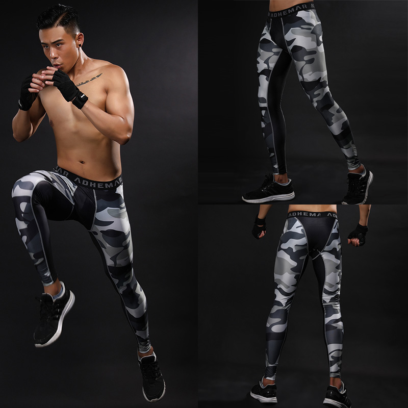 2017 Hottest Mens Compression Pants Male Base Layers Bodybuliding Skinny Tights Pants Quickly Dry Anti-Bacteria Trousers