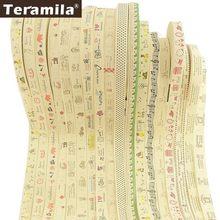 Teramila tecido fitas de etiquetas de algodão vestuário artesanal diy costura artesanato criança acessórios de pano 2cm/2.5cm largura 2 m/lote