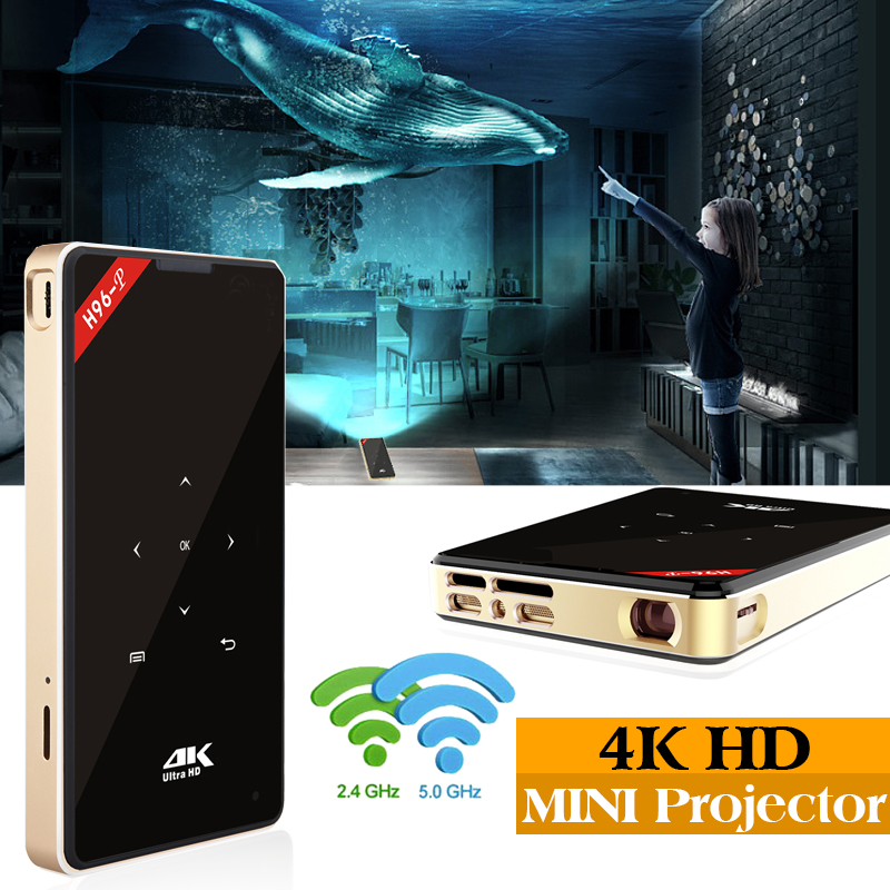 h96 p Projector Smart Home Theater Pocket Android 6.0 OS Wifi Mini HD LED Projector Voor Volledige HD1080P MAX 4 k HDMI|Set-top Boxes|   - title=