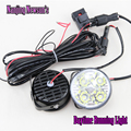2x Auto Car 4 LED Rodada DRL Daytime Running Conduzir Dia Lâmpada Luz Fog Lamp 12 V 4 W Livre grátis