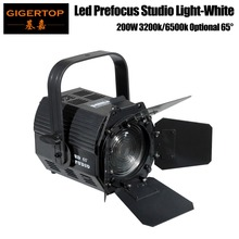 Freeshipping TP-023 200W Cool White/Warm White Optional Integrated COB lED Studio Light Fresnel Lens Smooth DMX 512 3 Channels