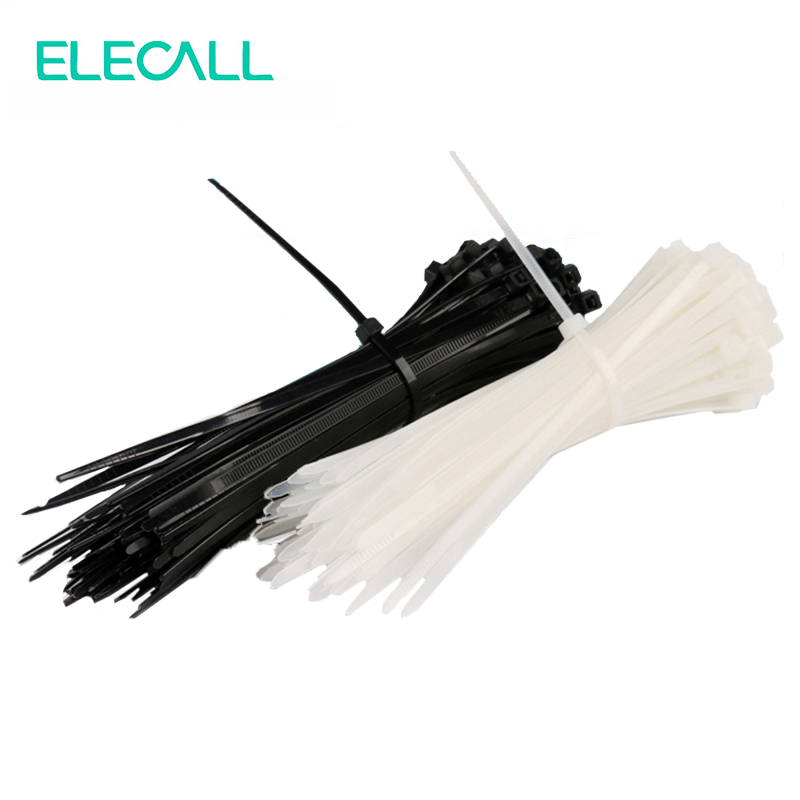 8*350mm Self-Locking Nylon Cable Ties Cable Zip Tie Loop Ties For Wires Tidy Black and White 500pcs 1 11
