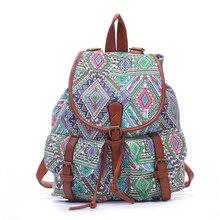 Новый холст выходные мешки женщины большой емкости дорожные сумки национальной печати рюкзак модные школьные сумки для подростков Mochila