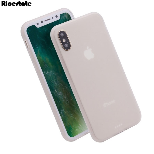 purchase cheap 6fb58 3ccf3 US $0.7 10% OFF|Ricestate Case For iphone X XR XS MAX Matte solid color  Case For iphone 6 7 8 Plus X XS MAX XR Cover Protect Skin Silicon case-in  ...