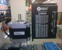 Новая система Leadshine цифровой шаговый DM860 накопители + 86hs45 шаговый двигатель NEMA 34 Набор хорошо работать в гравировки
