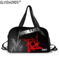 Wholesale Metallica Skull Print Luggage Bags Heavy Metal Rock Hip Hop Men S Canvas Travel Bag
