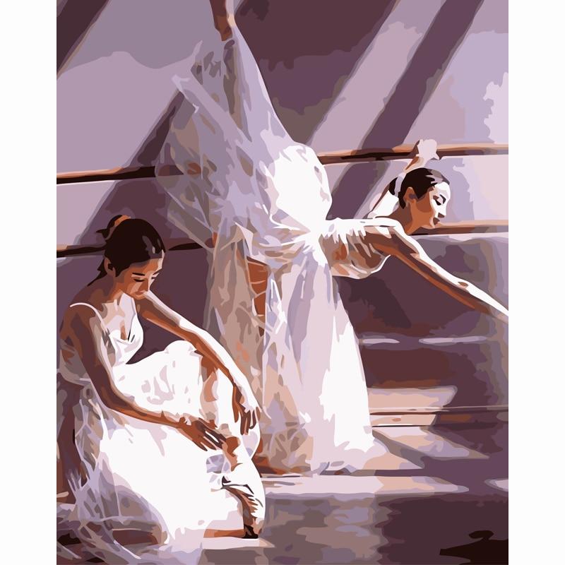Ballet Pintura Diy By Numbers Desenho Pintura Por Numeros Kits