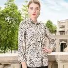 KAMIYING 2019 Trend Neue Frauen Hemd Schmetterling Kragen Temperament OL Stil Dünne Marke Leopard Print Casual Print Damen Hemd - 6