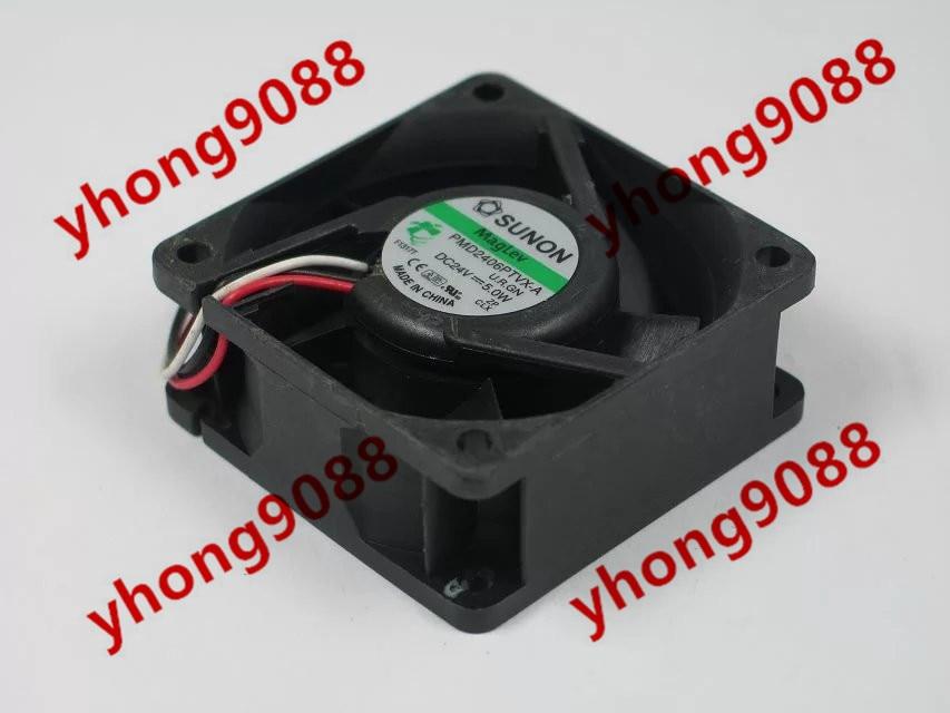 SUNON PMD2406PTVX-A U.R.GN DC 24V 5.0W  60X60X25mm Server Square  Fan free shipping for sunon eg50040v1 c06c s9a dc 5v 2 00w 8 wire 8 pin server laptop fan
