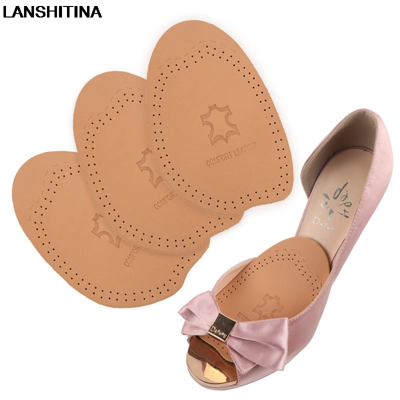 Leather Forefoot Pad Thickening Half Code Pad Soft High Heel Latex Insoles Shock Absorbing Breathable Insole Shoes AccessoiresLeather Forefoot Pad Thickening Half Code Pad Soft High Heel Latex Insoles Shock Absorbing Breathable Insole Shoes Accessoires