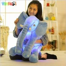 युनानासी 50 सेमी चमकदार नरम हाथी Fluffy Squishy खिलौना आलीशान तकिया चमकदार संगीत हाथी खिलौना बच्चों भरवां जन्मदिन उपहार लड़कियों
