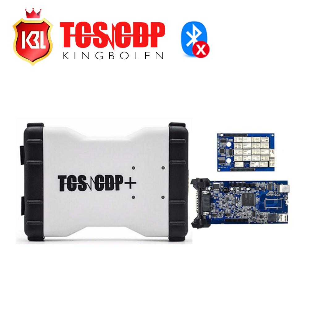 Prix pour Livraison Gratuite TCS Pro Plus 3 en 1 wth LED câble Multi-langue 2014.03 logiciel livraison keygen pro logiciel