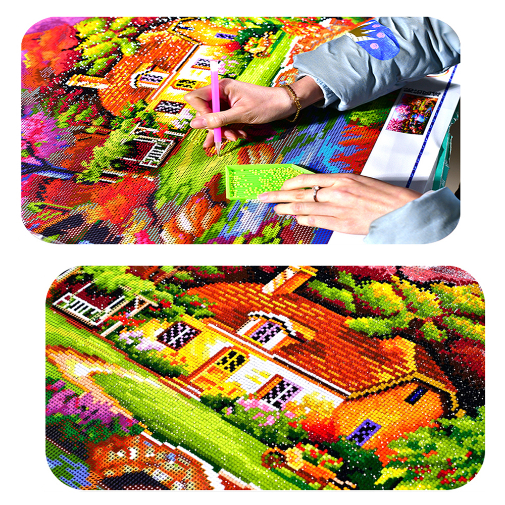 FineTime Dog Puppy 5D DIY Diamond Painting Partial Round Drill Diamond Embroidery Animal Cross Stitch Mosaic Painting in Diamond Painting Cross Stitch from Home Garden