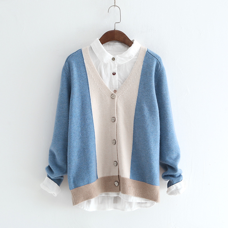 8d1c9fd6e5f1f Daily-Apparel-2018-Spring-Fashion-Knitwear-Wood-Button-Mori-Girl -Color-Patchwork-Cardigan-Knitting-Top-Knit.jpg