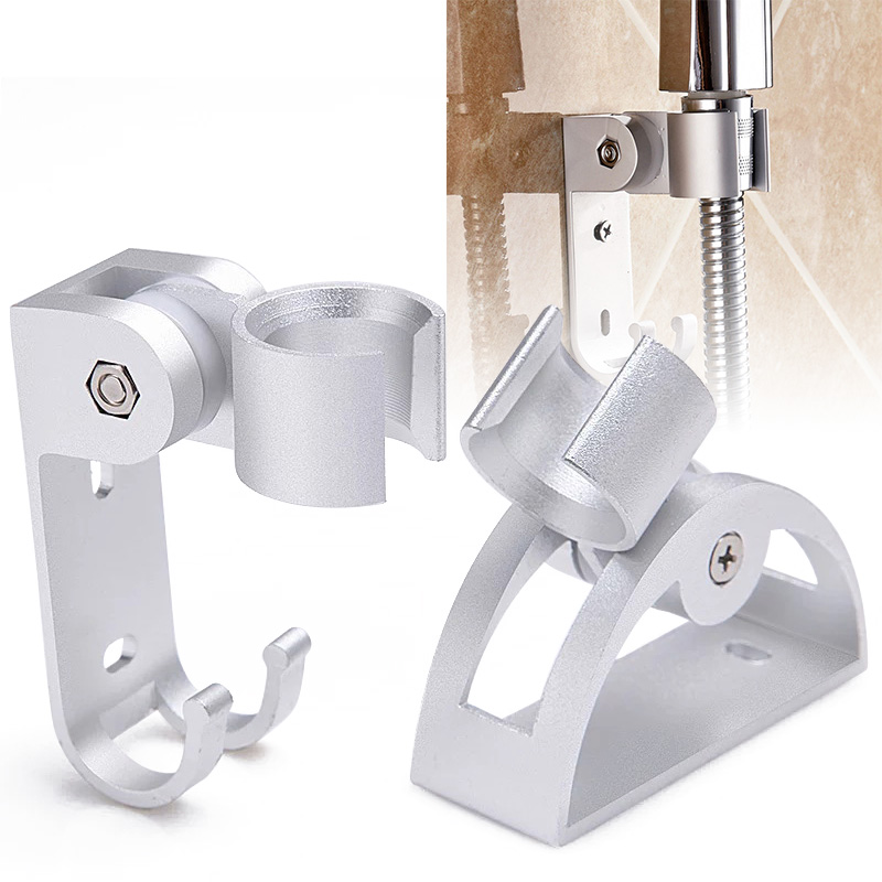 Adjustable Aluminum Shower Holder Wall Mounted Shower Rain Head Holder Rustproof Head Stand Bathroom Accessories