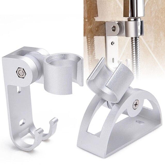 Regulowany aluminium prysznic uchwyt do montażu na ścianie prysznic deszcz uchwyt głowicy ze stali nierdzewnej stojak na głowę akcesoria łazienkowe