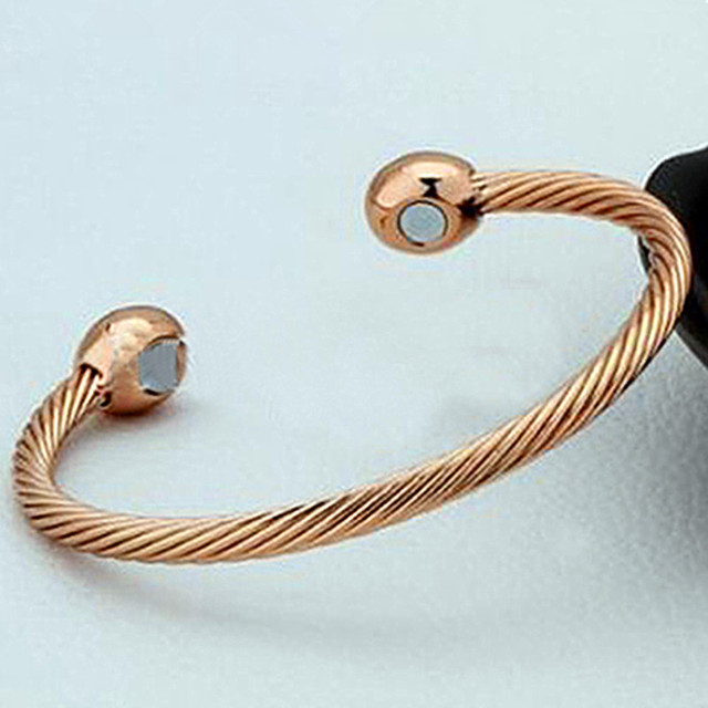 Healing Copper Magnetic Therapy Bracelet Arthritis Pain Relief Twisted Bangle Jewelry Femme Love Gift Exquisite