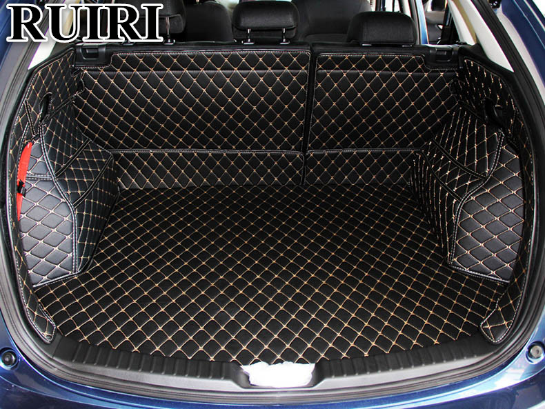 High quality! Special car trunk mats for New Mazda CX-5 2017 waterproof cargo liner mats boot carpets for CX5 2018,Free shipping