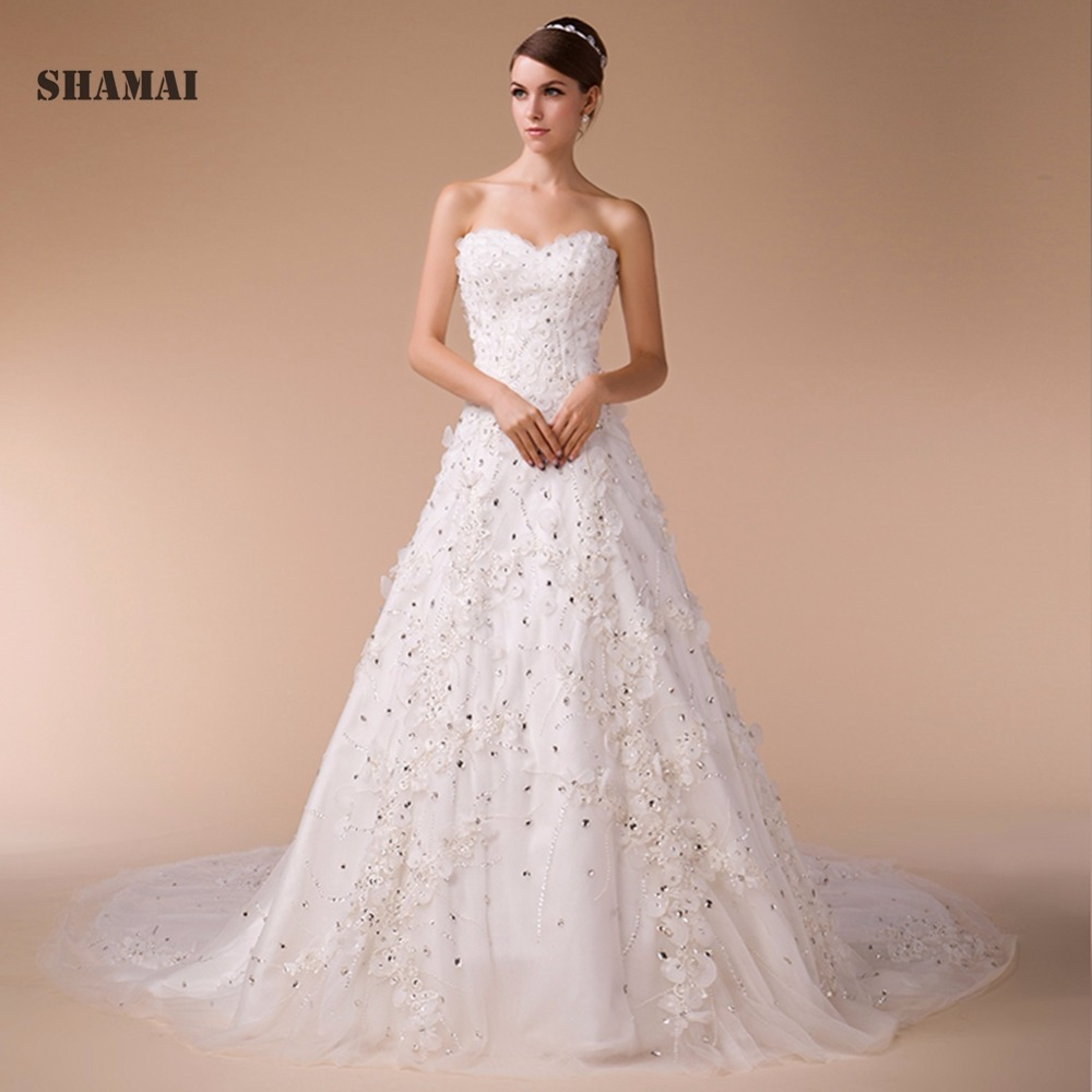 Over The Top Wedding Gowns: Aliexpress.com : Buy Wedding Dresses Sweetheart Sleeveless