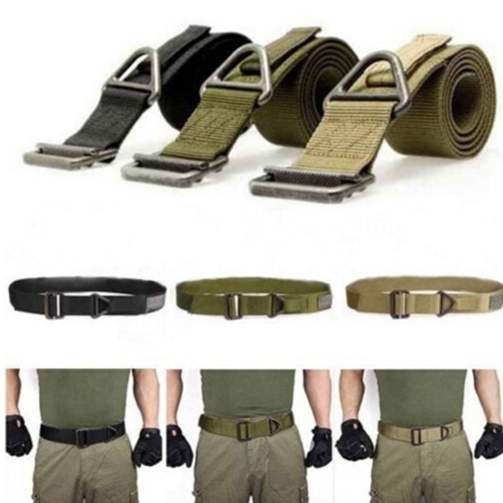 HOT Men Army Tactical Belt Military Training Nylon Belts Strap Survival Tactical Belt Emergency Rescue Rigger Militaria