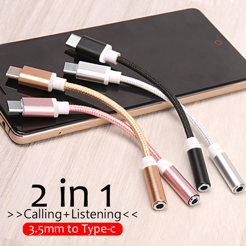 Type-C To 3.5mm Jack Converter Earphone Audio Adapter Cable Type USB C To 3.5mm Headphone Aux Cable For Xiaomi Mi8 My 8 Lite Pro