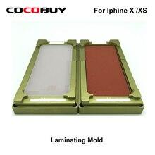 Unbent flex mould for iphone X/XS glass digitizer OCA polarizer film location laminating for universal laminating machine use цена