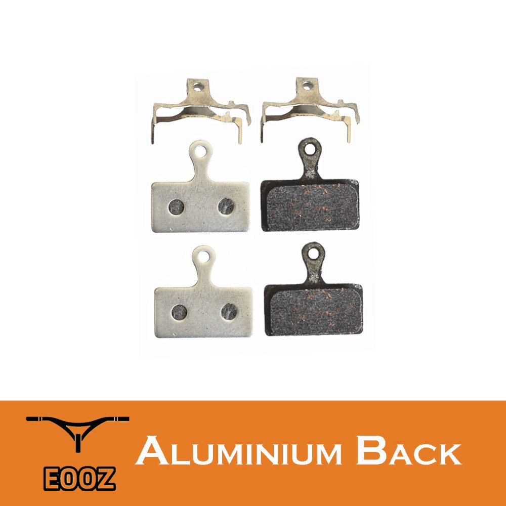 2 Pairs Lightweight Bike Semi-metallic Disc Brake Pads Aluminum Alloy Back For SHIMANO <font><b>G01S</b></font> XTR M9000 M988 Deore XT M8000 M785 image