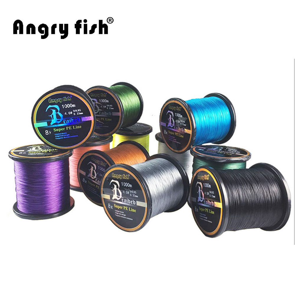 Wholesale 1000 meters 8x braided fishing line 11 colors for Bulk braided fishing line