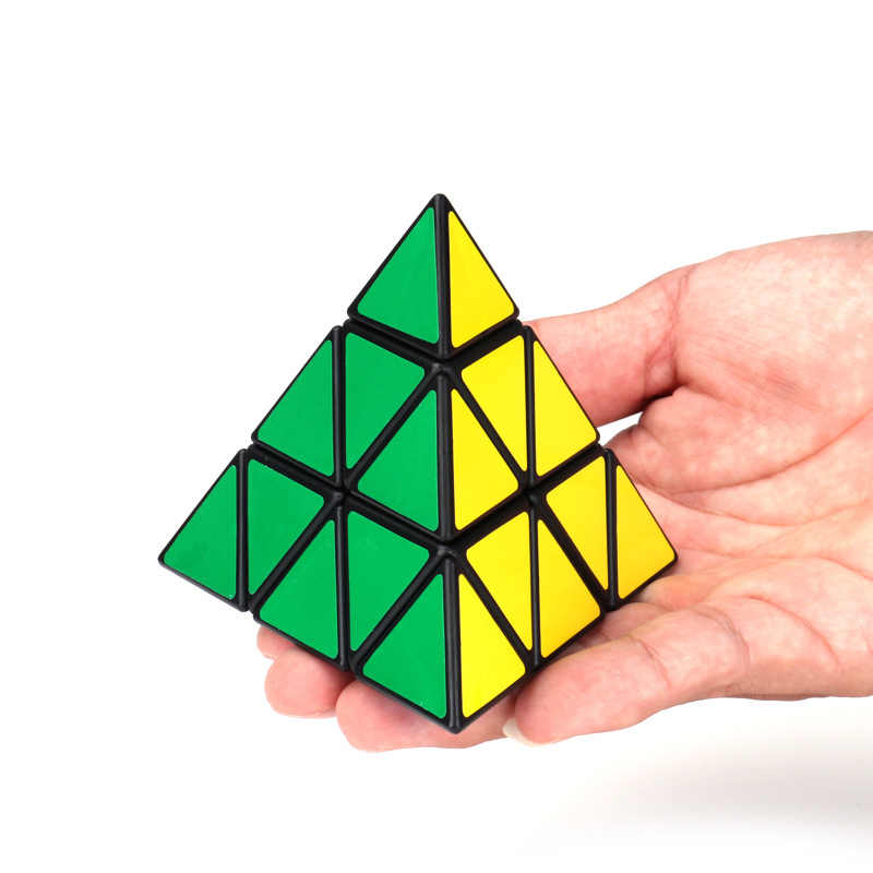 10cm Cubo Magico Triangle Pyramid Magic Cube Puzzle Cubes Twist 3x3 Cubo Square Puzzle Gifts Educational Toys for Children(China)