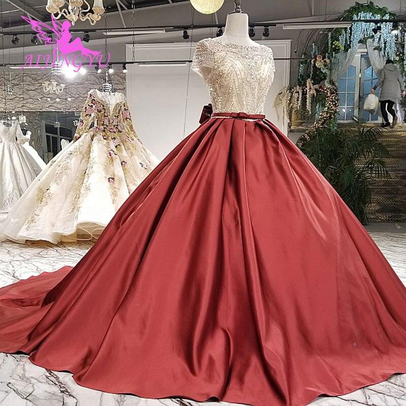 AIJINGYU Cheap Wedding Dresses Gowns Luxury Cord Lace Drees Little White Marriage Wear Gown Plus Size Dress 2018