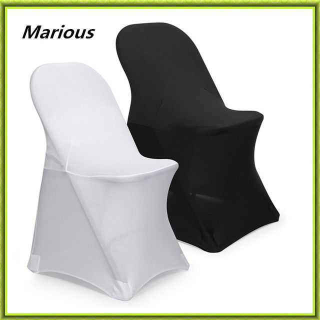 Chair Covers For Folding Chairs Wedding Rv Furniture Captains Marious Brand Spandex 50pcs Cover Banquet Free Shipping