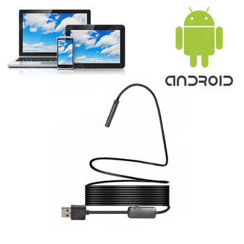 Android Endoscope Camera 5.5MM Lens 1m/1.5m/2m/3.5m/5m Snake Wire Android Borescopes Mini Camera For PC Android Phone