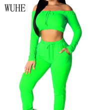 WUHE Autumn Casual Two Pieces Sets Long Sleeve Top+bodycon Pants Elegant High Street Go Out Jumpsuits Women Combinaison Femme wuhe women fashion o neck short sleeve long swing top and slim pants summer casual two pieces sets playsuits combinaison femme
