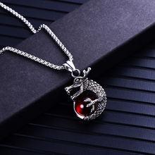 Ожерелье с подвеской из блестящего Красного камня ожерелье в