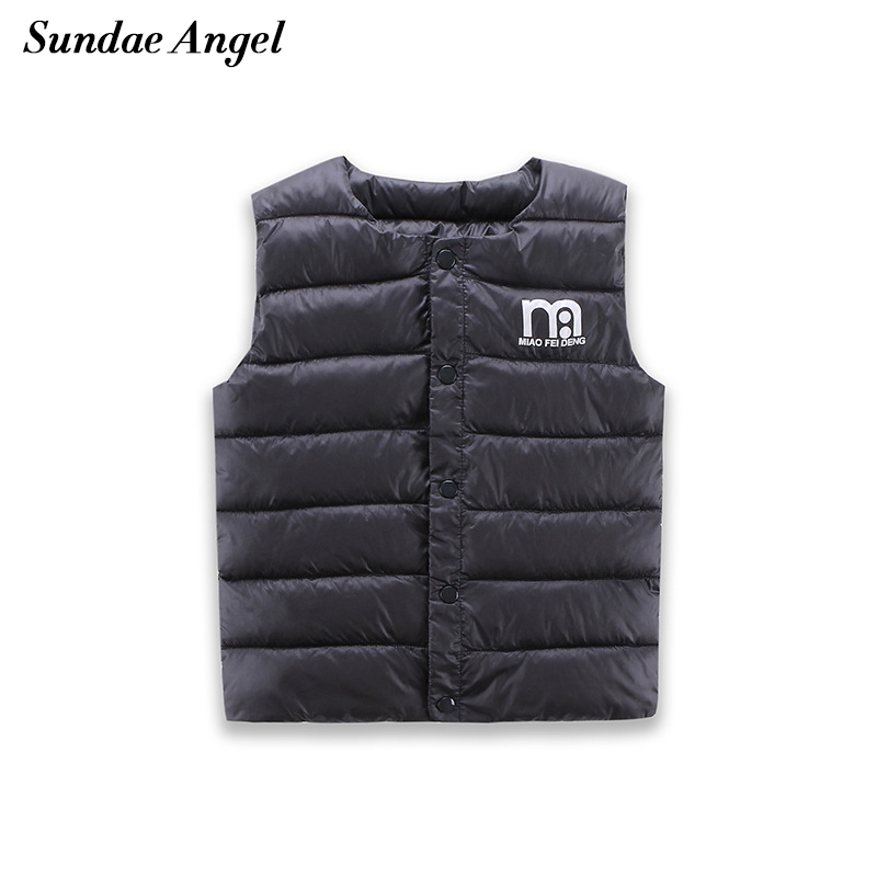 Sundae Angel Kids Jakker Vests Children's Down Parkas Bomull Varm Vest Baby Girl Boy Sweet Solid Veske Outerwear 1-6 Years
