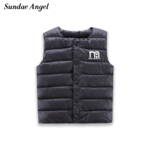 Sundae Angel Kids Girls Vests Children's Down Parkas Cotton Warm Vest Baby Girl Boy Sweet Solid Waistcoat Outerwear 1-6 Years