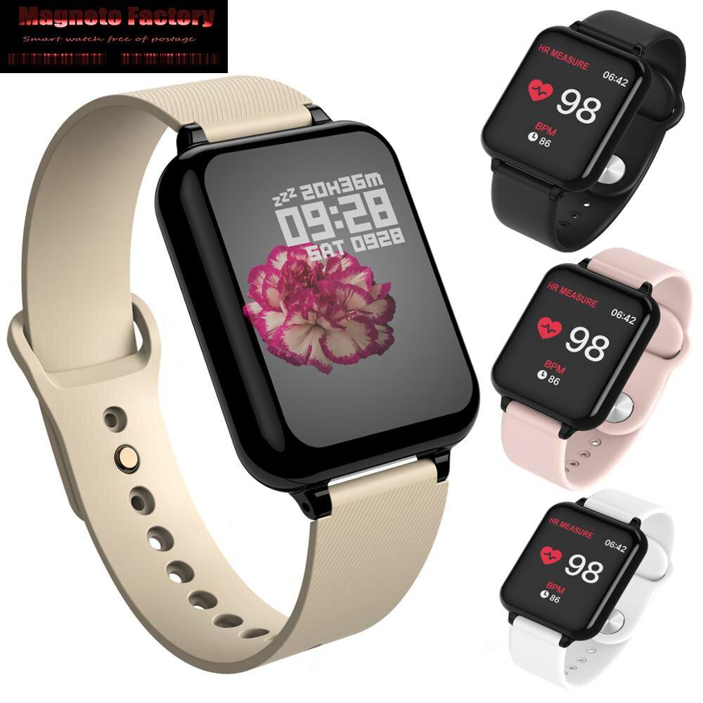 Rastreador de fitness B57 smart watch Esporte Para IOS Android phone Smartwatch À Prova D' Água Heart Rate Monitor de Pressão Arterial Funções