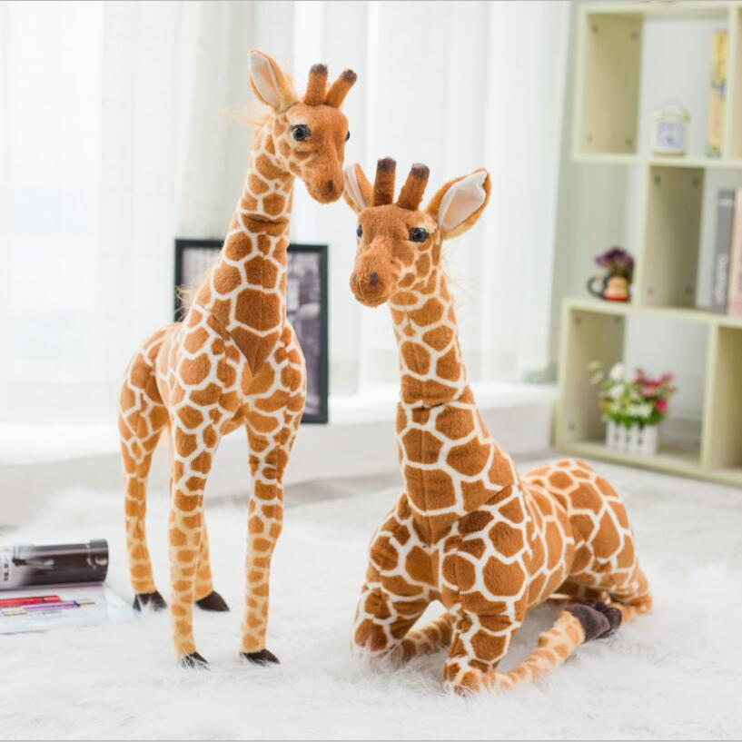60/80cm Simulation Plush Giraffe Toys Cute Stuffed Animal Dolls Soft Giraffe Doll High Quality Birthday Gift Kids To 20cm high quality hello kitty plush toys hug pillow fruit kt cat stuffed dolls for girls kids toys gift mini animal plush doll