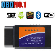 ELM327 wifi V1.5 ELM327 V2.1 OBDII Авто диагностический интерфейс elm 327 Blutooth ELM 327 Беспроводной Wi-Fi для Android/iOS/Windows