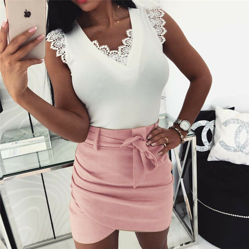 <font><b>Sexy</b></font> High waist <font><b>Bandage</b></font> short <font><b>skirts</b></font> New Asymmetric belt <font><b>skirts</b></font> women <font><b>Bodycon</b></font> Summer <font><b>skirts</b></font> femme image
