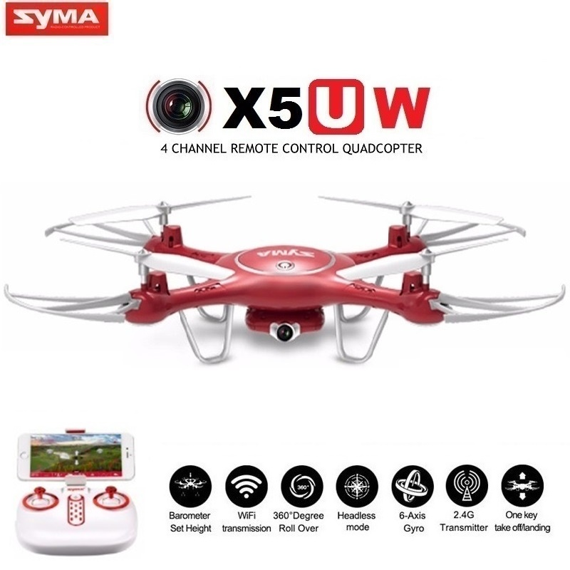 Купить на aliexpress SYMA X5UW & X5UC FPV RC Дрон с 720 P WiFi 2MP HD камерой 2,4G 4CH 6 Axis Квадрокоптер вертолет стабилизация высоты один ключ земля Дрон