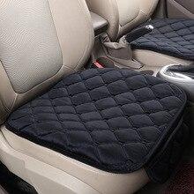 Funda para cubrir asiento de coche, alfombrilla para asiento delantero de coche, para la mayoría de los vehículos, antideslizante, cálida, 1 unidad