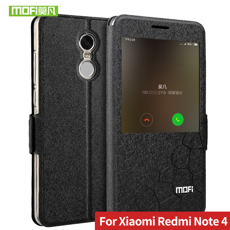 Für Xiaomi Redmi Hinweis 4 Fall 5,5 abdeckung silizium glitter flip leder globale version mofi Redmi Hinweis 4 pro fall weichem kunststoff funda