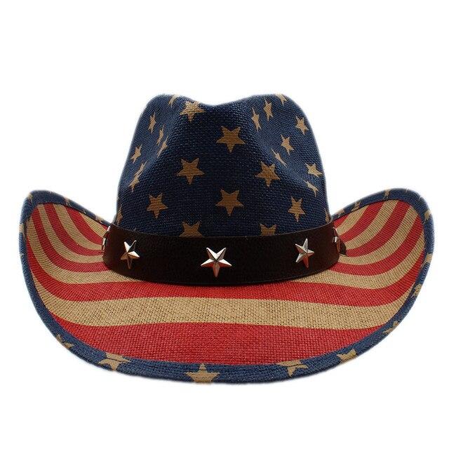 Musim panas topi koboi pria wanita pria berongga barat cowgirl jazz  sombrero pantai matahari topi berkuda 6636ec4228