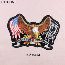 ZOTOONE Large Punk Military Eagle Patch Embroidery Iron On Wings Letter Tactical Patches Applications For Clothes Jacket DIY E