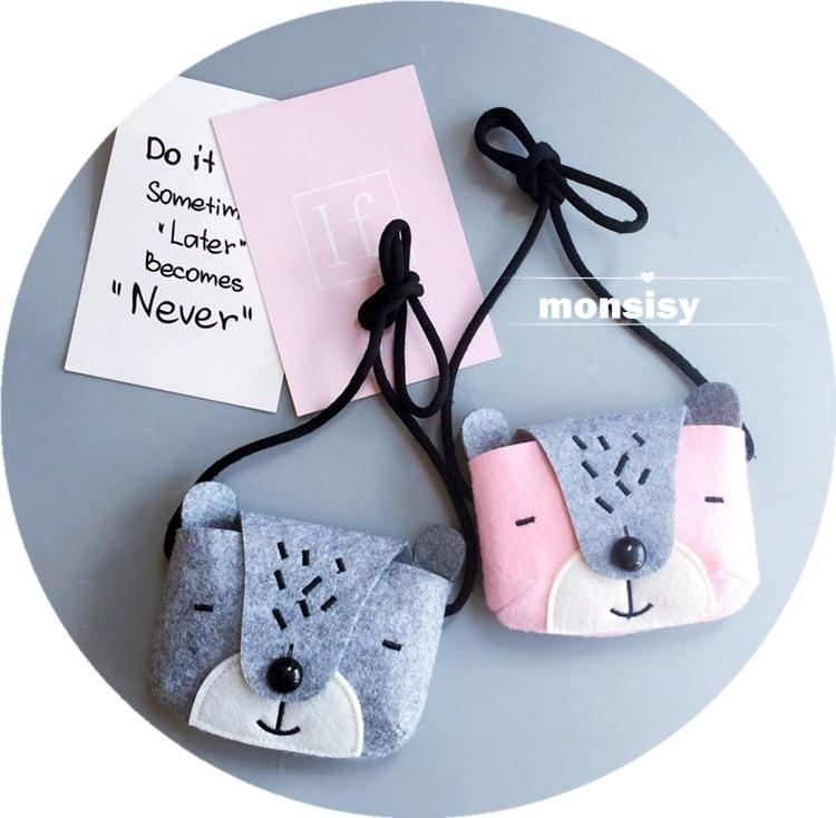 Monsisy Kız Çanta Çocuk Çanta Cüzdan Bebek Sikke çanta Sevimli - Çanta