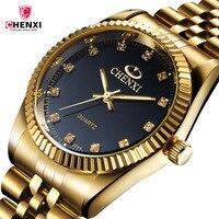 CHENXI Golden Quartz Watches Saat Erkekler Cheap Mens Watch Brand Luxury Reloj Hombire 2017 Clock Men