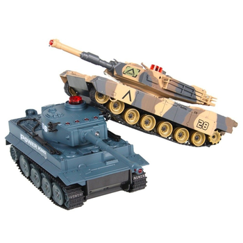 2 adet 1/32 ölçekli e n e n e n e n e n e n e n e n e n e kızılötesi muharebe tankı çekim askeri BB söndürme mermi araba oyuncak döndür ömrü göstergesi|RC Tanklar|   -